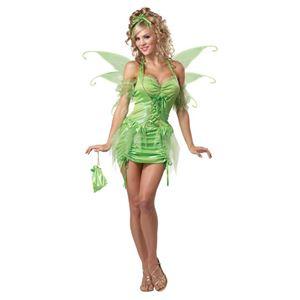 コスプレ衣装/コスチューム California Costumes TINKERBELL FAIRY / ADULT 【ドレス・つけ袖・羽・ポーチ・ヘッドピース】