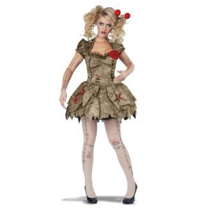 コスプレ衣装/コスチューム California Costumes VOODOO DOLLY / ADULT 【ドレス・ヘアピン・ストッキング・ハートピン】