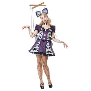 コスプレ衣装/コスチューム California Costumes MARIONETTE / ADULT 【ドレス・吊手付きリボン・糸・ストッキング・チョーカー・ペチスカート】