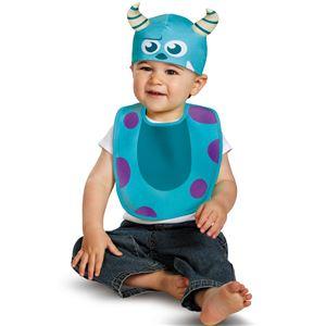 コスプレ衣装/コスチューム 【Sulley Bib & Hat よだれかけ・帽子】 コットン 『Disguise』 〔ハロウィン〕