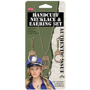 コスプレ衣装/コスチューム Fun world Handcuff Necklace & Earrings 【手錠ピアス・ネックレス】