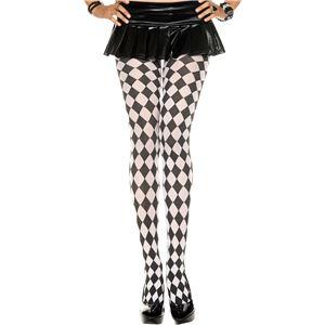 コスプレ衣装/コスチューム Music Legs 7094-BLACK/WHITE ストッキング - 拡大画像