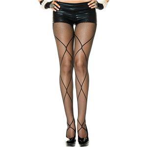 コスプレ衣装/コスチューム Music Legs 5049-Black ストッキング - 拡大画像