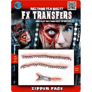 コスプレ衣装/コスチューム Tinsley Transfers Zipper Face 装飾メイクシール