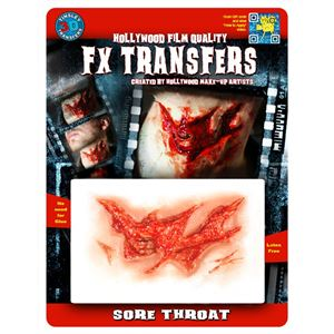 コスプレ衣装/コスチューム Tinsley Transfers Sore Throat 装飾メイクシール