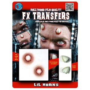 コスプレ衣装/コスチューム Tinsley Transfers Lil Horns 装飾メイクシール