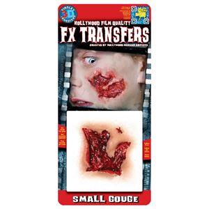 コスプレ衣装/コスチューム Tinsley Transfers Small Gouge 装飾メイクシール - 拡大画像