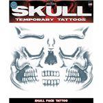 コスプレ衣装/コスチューム Tinsley Transfers Skull Face タトゥーシール