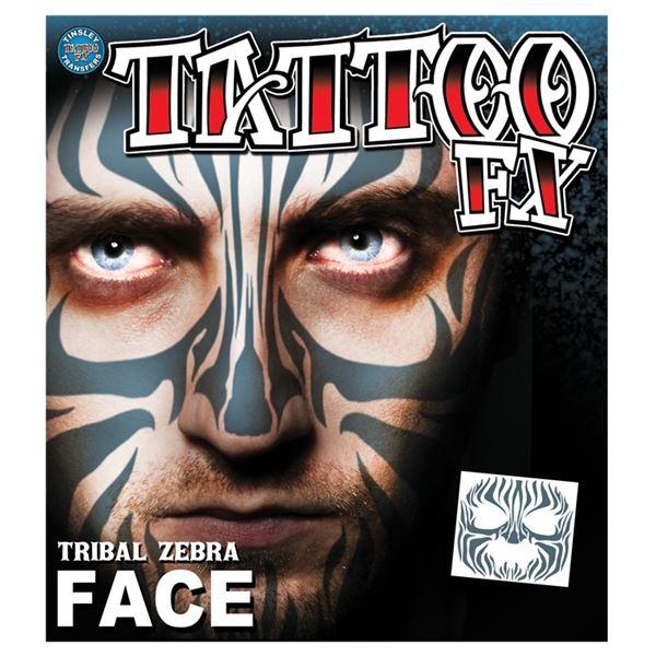 コスプレ衣装/コスチューム Tinsley Transfers Tribal Zebra Face タトゥーシール