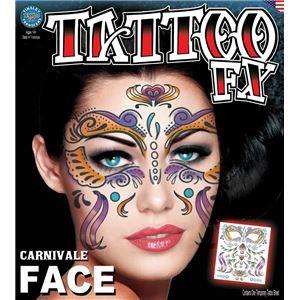 コスプレ衣装/コスチューム Tinsley Transfers Carnivale タトゥーシール - 拡大画像