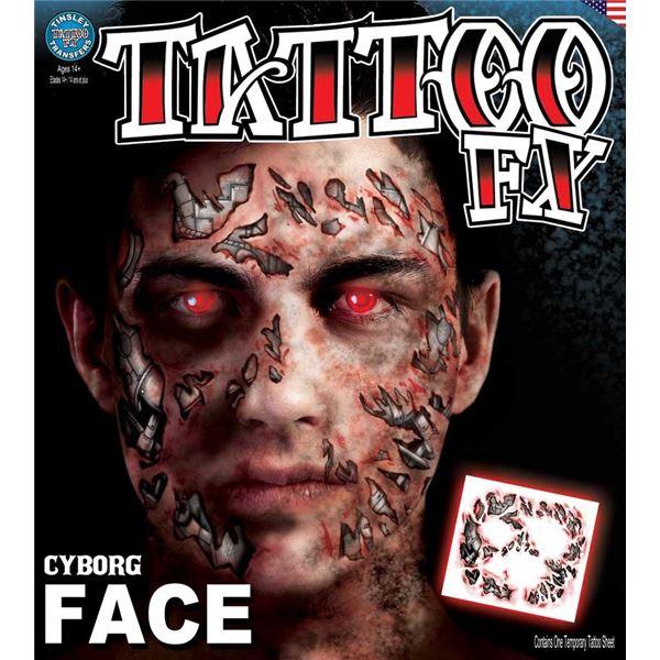 コスプレ衣装/コスチューム Tinsley Transfers Cyborg タトゥーシール