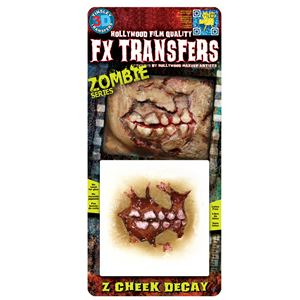 コスプレ衣装/コスチューム Tinsley Transfers Zombie Cheek Decay 装飾メイクシールの画像
