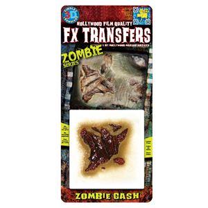 コスプレ衣装/コスチューム Tinsley Transfers Zombie Gash 装飾メイクシールの画像