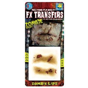 コスプレ衣装/コスチューム Tinsley Transfers Zombie Lips 装飾メイクシールの画像