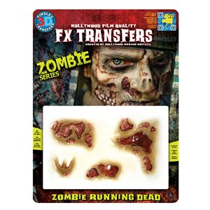 コスプレ衣装/コスチューム Tinsley Transfers Zombie Running Dead 装飾メイクシールの画像