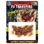 コスプレ衣装/コスチューム Tinsley Transfers Zombie Torn Throat 装飾メイクシール
