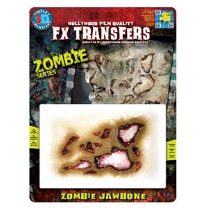 コスプレ衣装/コスチューム Tinsley Transfers Zombie Jaw Bone 装飾メイクシールの画像