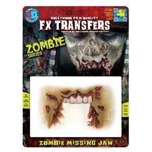コスプレ衣装/コスチューム Tinsley Transfers Zombie Missing Jaw 装飾メイクシールの画像