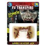 コスプレ衣装/コスチューム Tinsley Transfers Zombie Missing Jaw 装飾メイクシール