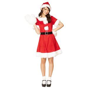 クリスマスコスプレ/コスプレ衣装 【キャンディサンタ】 レディース ポリエステル 『XM』 〔イベント パーティー〕の画像
