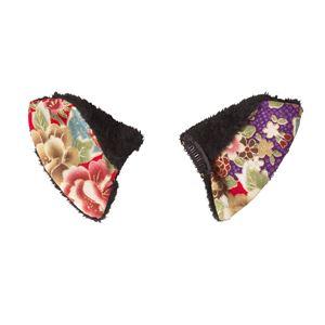 【コスプレ衣装/コスチューム】花鳥風月 和柄猫耳ピン 黒