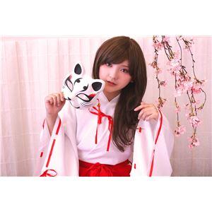 【コスプレ衣装/コスチューム】花鳥風月 きつね面 白 黒耳