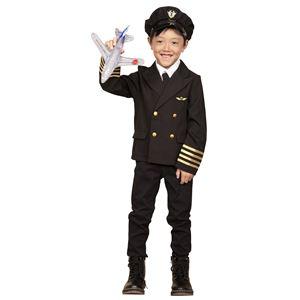 コスプレ衣装/コスチューム 【パイロット 120cmサイズ】 子供用 ハロウィン おままごと お遊戯会 『キッズジョブ』