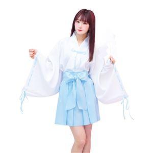 【コスプレ衣装/コスチューム】TG ミニリボン巫女 水色 - 拡大画像