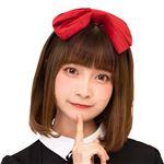 【コスプレ衣装/コスチューム】 2WAYベロアリボンカチューシャ 赤