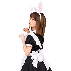 【コスプレ衣装/コスチューム】 けもみみしっぽセット 白うさぎ - 拡大画像