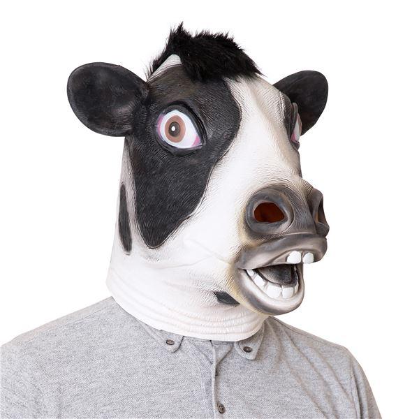 【コスプレ衣装/コスチューム】ラバーマスク 乳牛