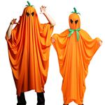 【コスプレ衣装/コスチューム】 HW 2WAYてるてるパンプキンポンチョ 〔ハロウィン パーティー 宴会〕