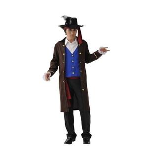 コスプレ衣装/コスチューム 【パイレーツ】 帽子 ベスト付きジャケット 腰紐付き ポリエステル 『MENコス』 〔イベント〕 - 拡大画像