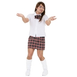 コスプレ衣装/コスチューム 【イケイケスクールガールMAN】 ブラウス リボン スカート付き 『女装MAN』 〔ハロウィン〕