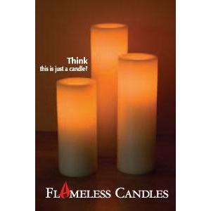 Frameless Candle CA10301-WHNS(ホワイト) - 拡大画像