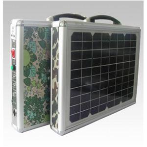 ソーラー式ポータブル発電機 PETC-FDXT‐15W - 拡大画像
