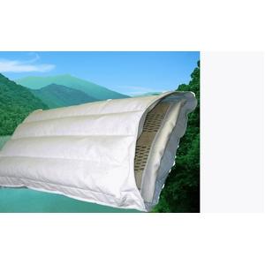 頑固親父のガチ枕(メッシュシート付) 綿100% 日本製 - 拡大画像