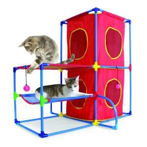 スポーツペット・猫(キャット)タワー キャットランド (キャット)プレイセンター/赤 - 拡大画像