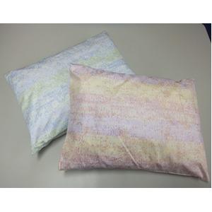 へちま枕/寝具 2個セット 【ブルー&ピンク】 30×42×12cm 日本製 側地綿100% 洗える 防虫 防菌効果 通気性 吸水性 〔寝室〕