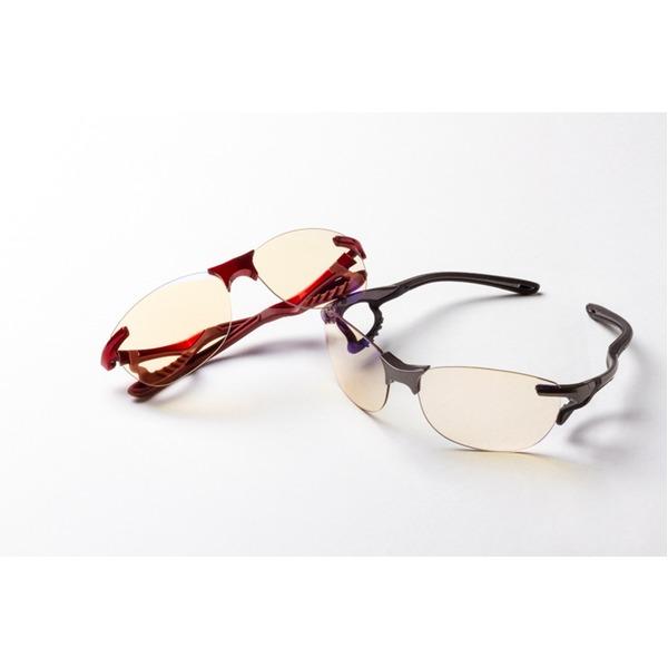 鼻でかけない薄い色のサングラス 「エアサイト」 レッド