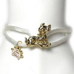 Disney Couture(ディズニークチュール) シルクコードブレスレット バンビ・ホワイト kjb31
