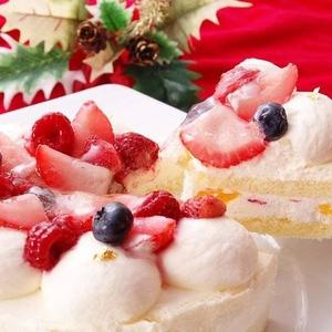 【12月17日まで受付延長! 2010年クリスマス向け】ブランブリュン 苺のホワイトクリスマス - 拡大画像