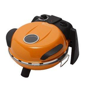さくさく石窯ピザメーカー/キッチン家電 【オレンジ】 3段階温度調節可 15分タイマー付き FPM-160or - 拡大画像