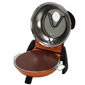 さくさく石窯ピザメーカー/キッチン家電 【オレンジ】 3段階温度調節可 15分タイマー付き FPM-160or