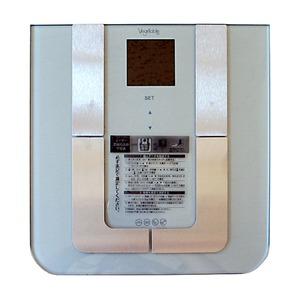 ボディバランスチェッカー/体重計 【シルバー】 文字バックライト付き 体重・体脂肪率・体水分率・体筋肉率・推定骨量 GD-BF950 - 拡大画像