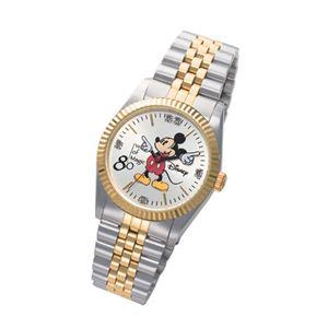 ミッキー生誕80周年記念ダイヤモンド腕時計 メンズ - 拡大画像
