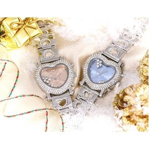ハート型腕時計 デリシャスハートミッキー ピンク - 拡大画像