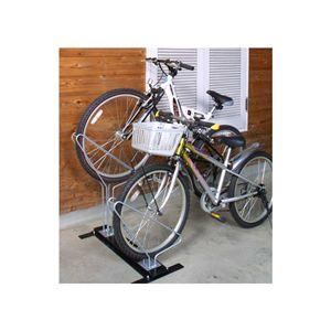 省スペースで自転車を収納【サイクルスタンド】2台用 - 拡大画像