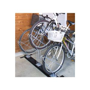 省スペースで自転車を収納【サイクルスタンド】3台用 - 拡大画像