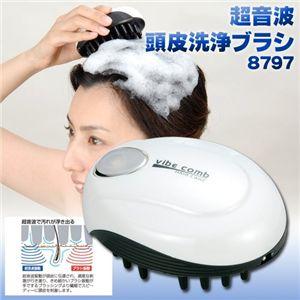 超音波頭皮洗浄ブラシ 8797 - 拡大画像
